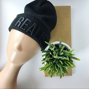 NWT REALIST Forever 21 Black Beanie